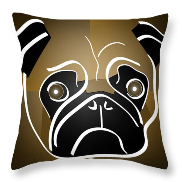 Mug Of A Pug Throw Pillow by Stephen Younts