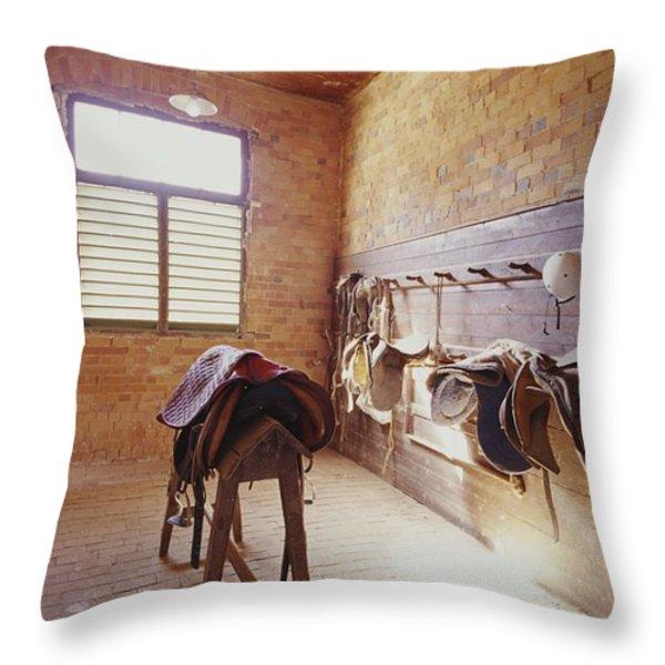 Mundiwa Station Tack Room Throw Pillow by Jason Edwards