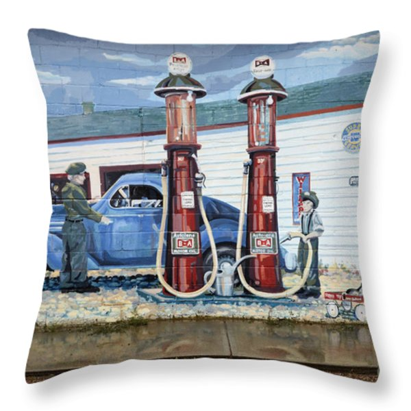 Mural Art At Consul Throw Pillow by Bob Christopher