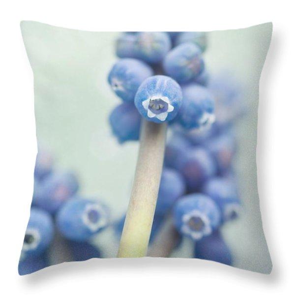 Muscari Throw Pillow by Priska Wettstein