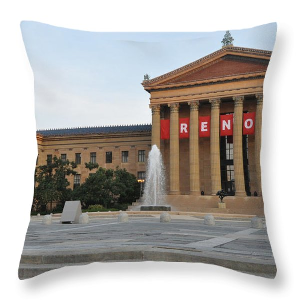 Museum Of Art - Philadelphia Throw Pillow by Bill Cannon