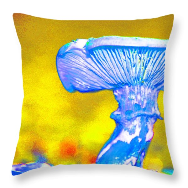Mushroom Whimsy  Throw Pillow by Marie Jamieson