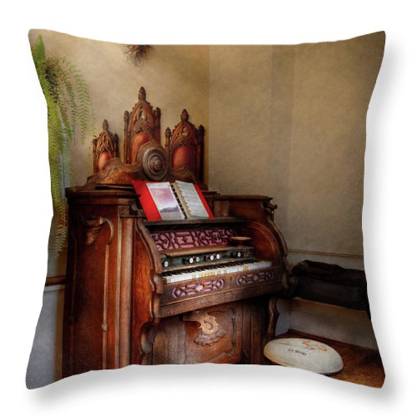 Music - Organ - Hear The Joy  Throw Pillow by Mike Savad
