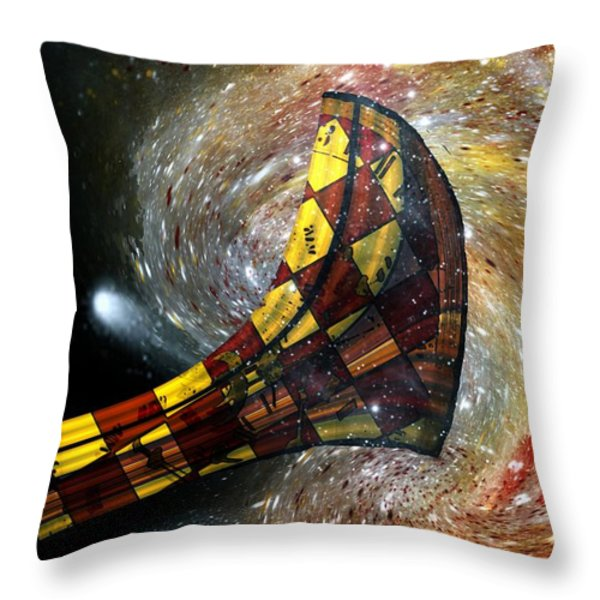 Music Of The Cosmos Throw Pillow by RC DeWinter