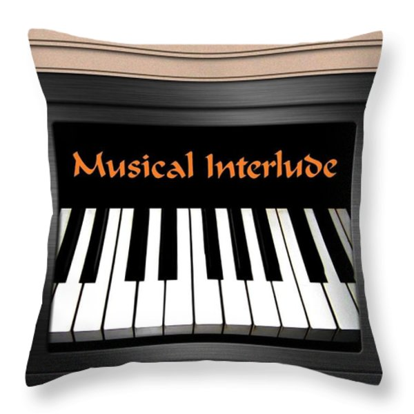 Musical Interlude Throw Pillow by Will Borden