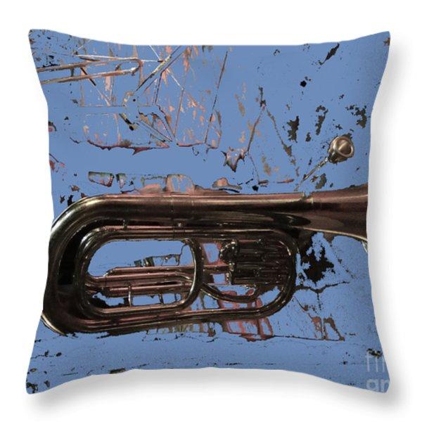 Musical Noise Throw Pillow by Al Bourassa