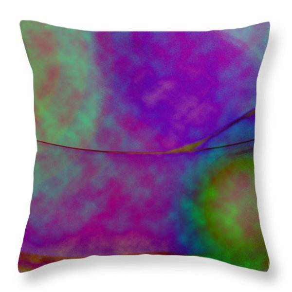 Muted Cool Tone Abstract Throw Pillow by Andee Design