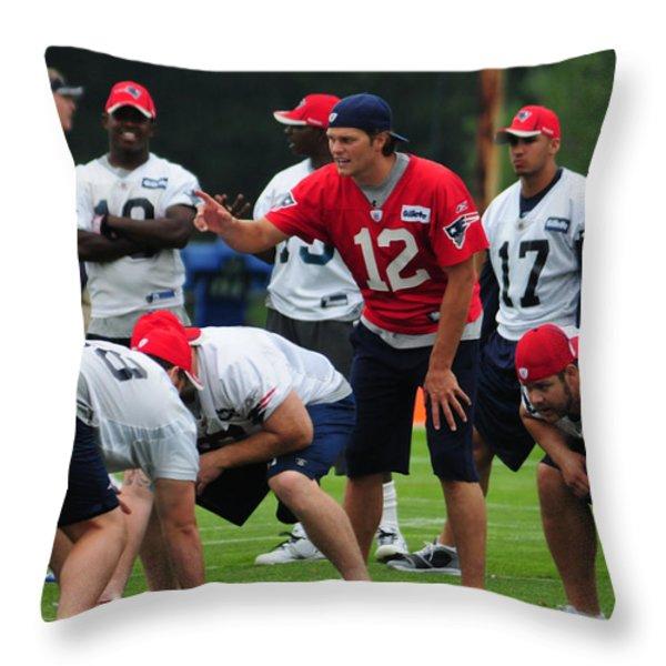 Mvp Tom Brady  Throw Pillow by Mike Martin