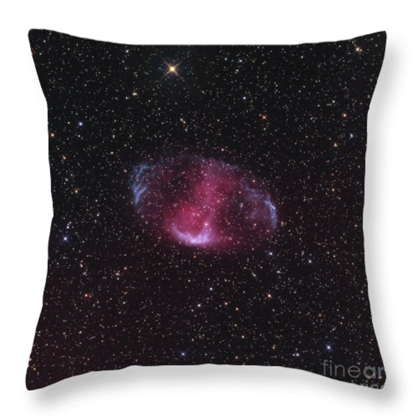 Mwp1, An Ancient Bipolar Planetary Throw Pillow by Don Goldman