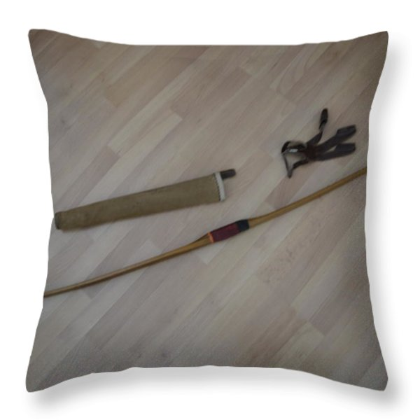 My boyhood bow Throw Pillow by LAWRENCE CHRISTOPHER