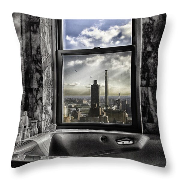 My favorite channel is Manhattan View Throw Pillow by Madeline Ellis