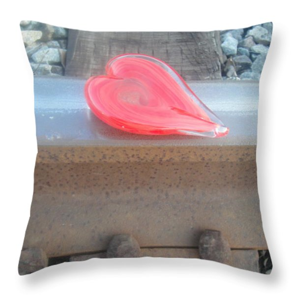 My Hearts On The Right Track Throw Pillow by WaLdEmAr BoRrErO