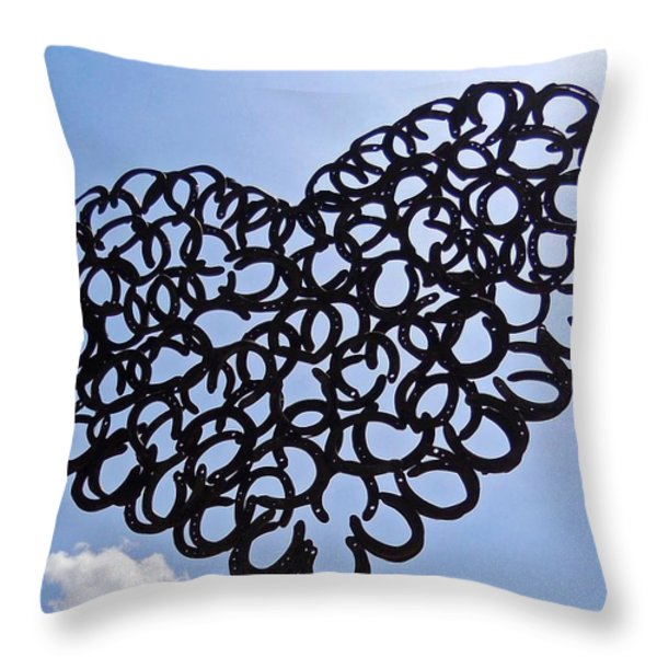 My Magical Heart ... Throw Pillow by Juergen Weiss