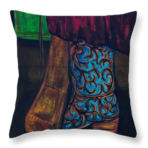 My Ride Home After The Dance Throw Pillow by Frances Marino