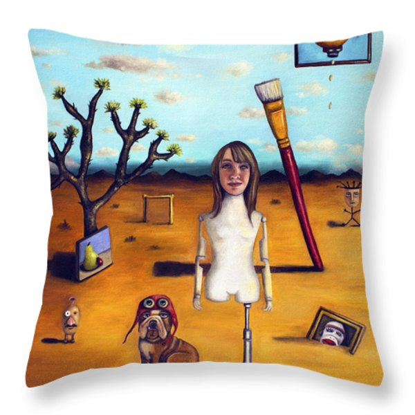 My Surreal Life Throw Pillow by Leah Saulnier The Painting Maniac