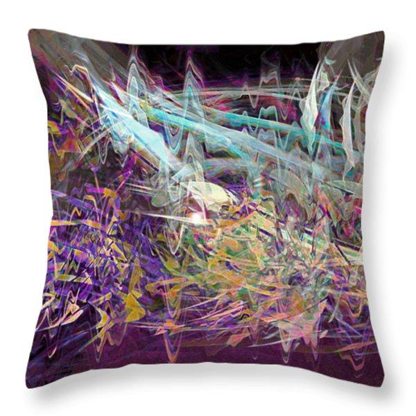 My Symphony Throw Pillow by Linda Sannuti