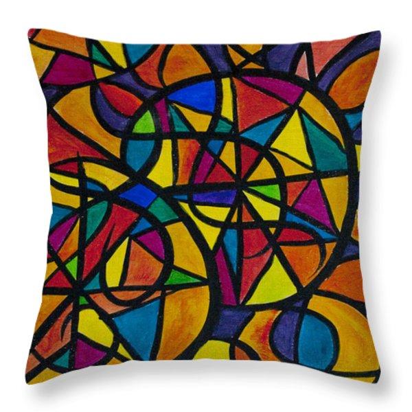My Three Suns Throw Pillow by Jaime Haney