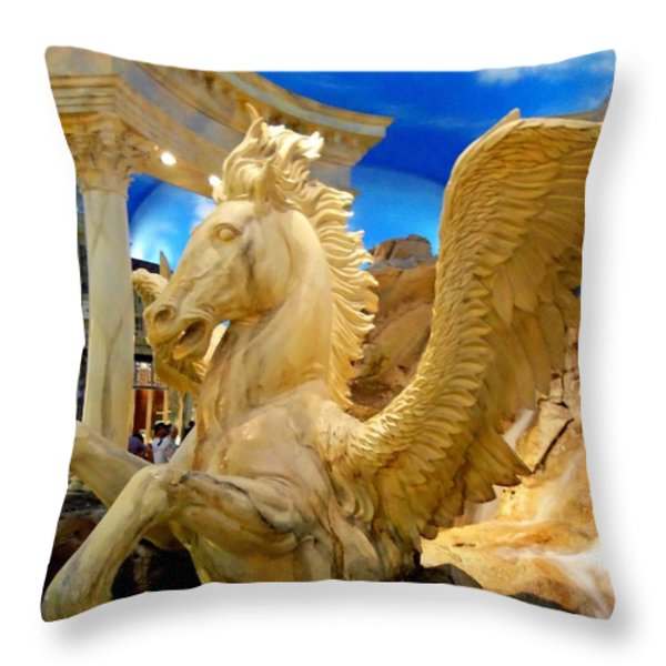 My Vegas Caesars 13 Throw Pillow by Randall Weidner