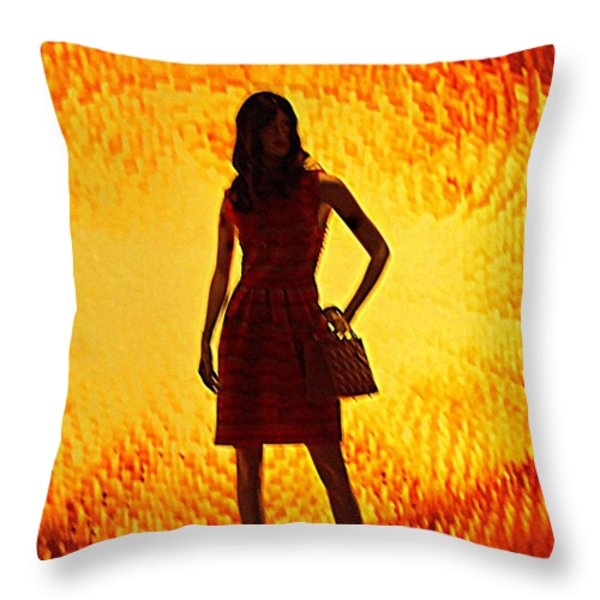 My Vegas Caesars 20 Throw Pillow by Randall Weidner