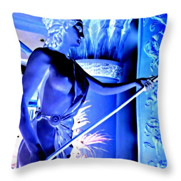 My Vegas Caesars 25 Throw Pillow by Randall Weidner