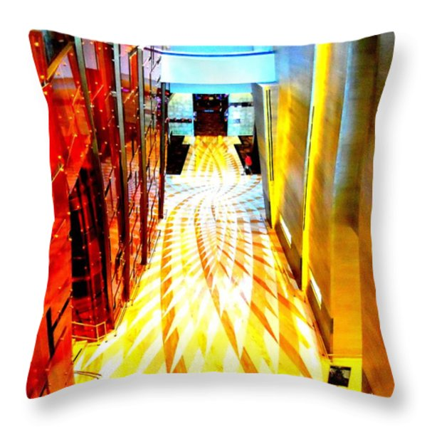 My Vegas City Center 43 Throw Pillow by Randall Weidner