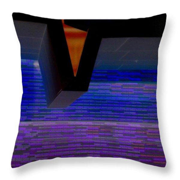 My Vegas City Center 44 Throw Pillow by Randall Weidner