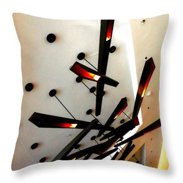 My Vegas City Center 46 Throw Pillow by Randall Weidner