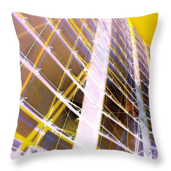 My Vegas City Center 55 Throw Pillow by Randall Weidner
