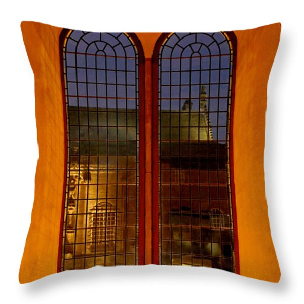 Mysterious Scotland Throw Pillow by Christine Till