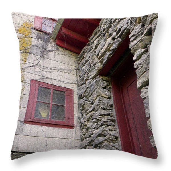 Mystery Of The Red Door Throw Pillow by Sandi OReilly