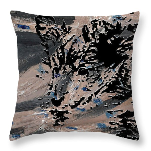 Mystique Print Throw Pillow by Vicky  Hutton
