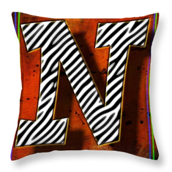 N Throw Pillow by Mauro Celotti