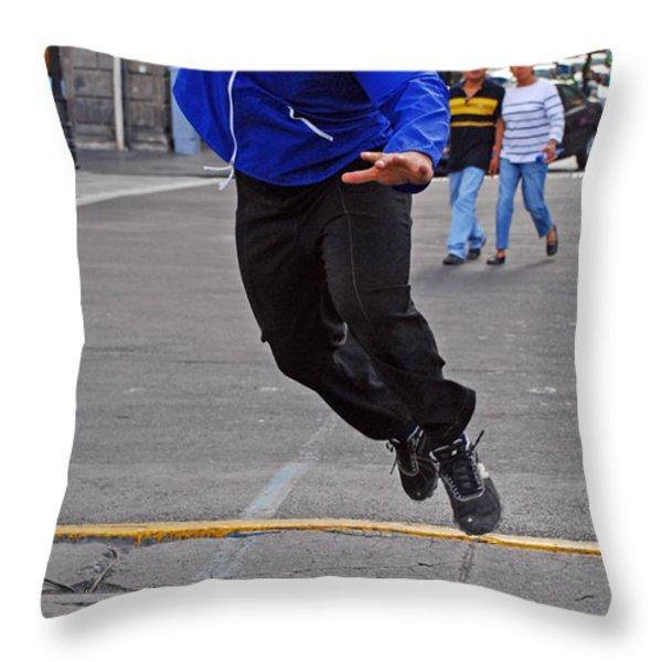 Nacho Libre Throw Pillow by Skip Hunt