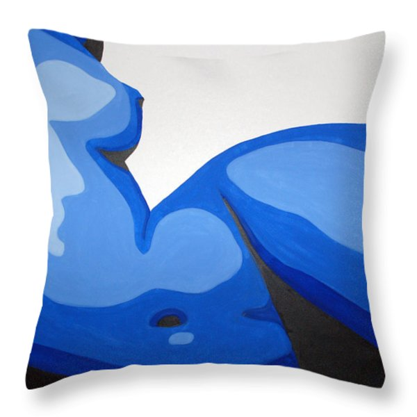Naked Woman Throw Pillow by Michael Ringwalt