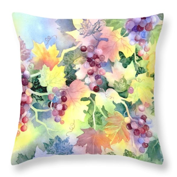 Napa Valley Morning 2 Throw Pillow by Deborah Ronglien