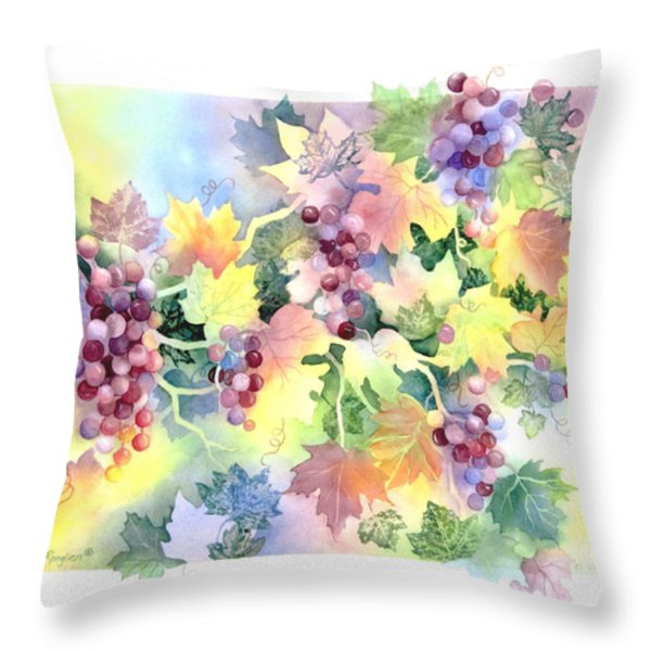 Napa Valley Morning Throw Pillow by Deborah Ronglien