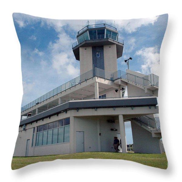 Nasa Air Traffic Control Tower Throw Pillow by Nasa