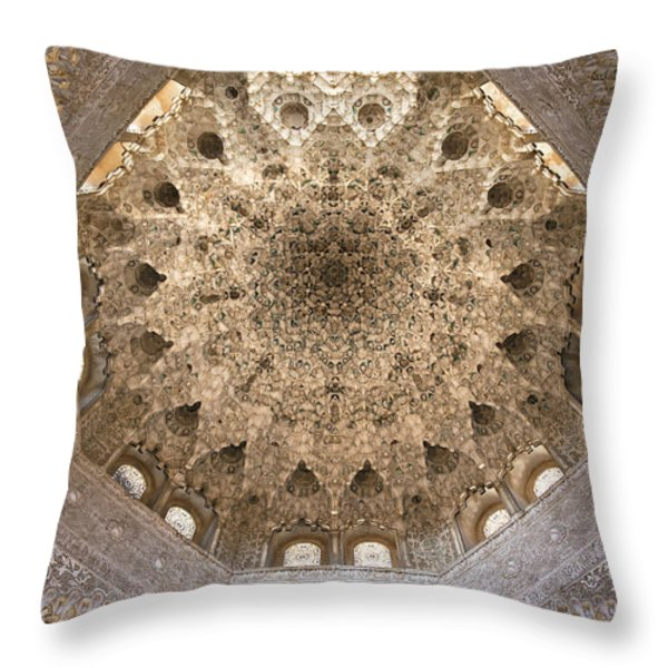 Nasrid Palace Ceiling Throw Pillow by Jane Rix