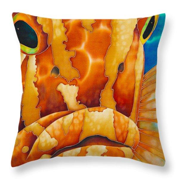 Nassau Grouper  Throw Pillow by Daniel Jean-Baptiste