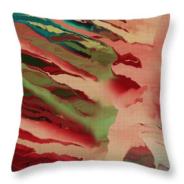 Native Abstract Weave Throw Pillow by Deborah Benoit