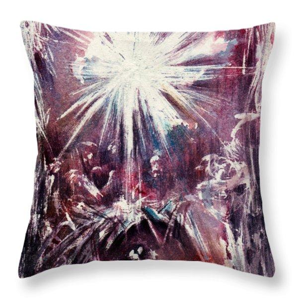 Nativity 1 Throw Pillow by Rachel Christine Nowicki