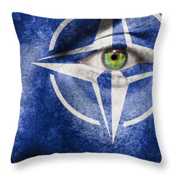 NATO Throw Pillow by Semmick Photo