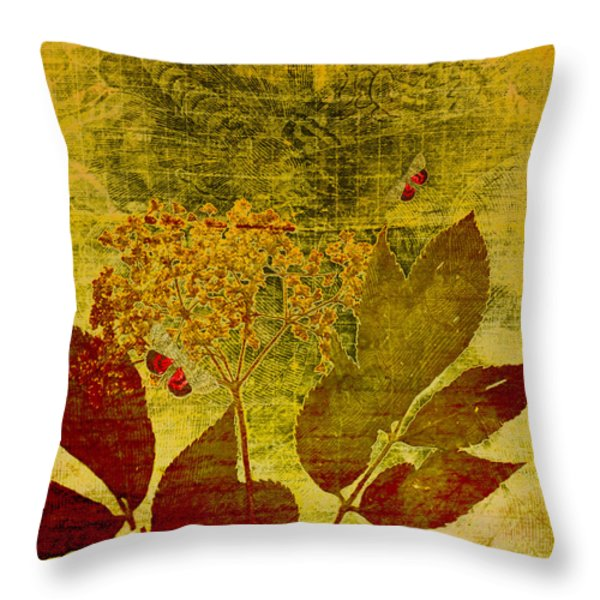 Nature at Work Throw Pillow by Bonnie Bruno