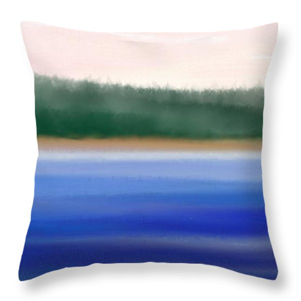 Nature Untouched Throw Pillow by Gina Lee Manley