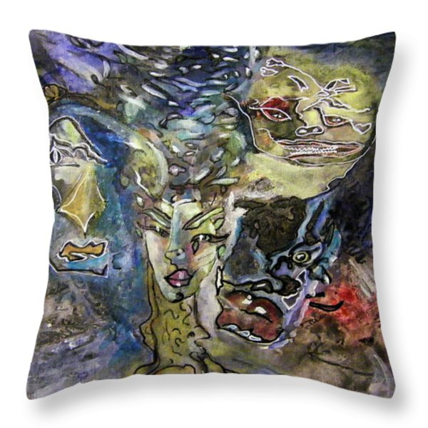 Naturgeister Nature Spirits Throw Pillow by Mimulux patricia no