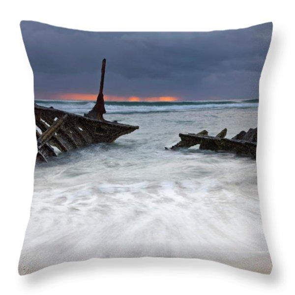 Nautical Skeleton Throw Pillow by Mike  Dawson