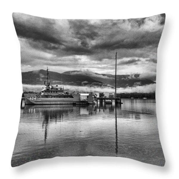 Navy Lookout Throw Pillow by Douglas Barnard