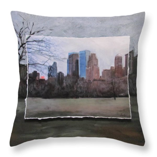 Ncy Central Park Layered Throw Pillow by Anita Burgermeister