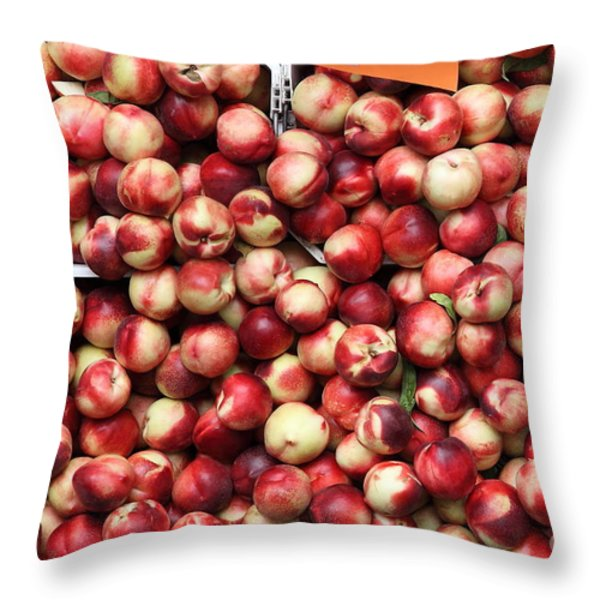 Nectarines - 5d17905 Throw Pillow by Wingsdomain Art and Photography
