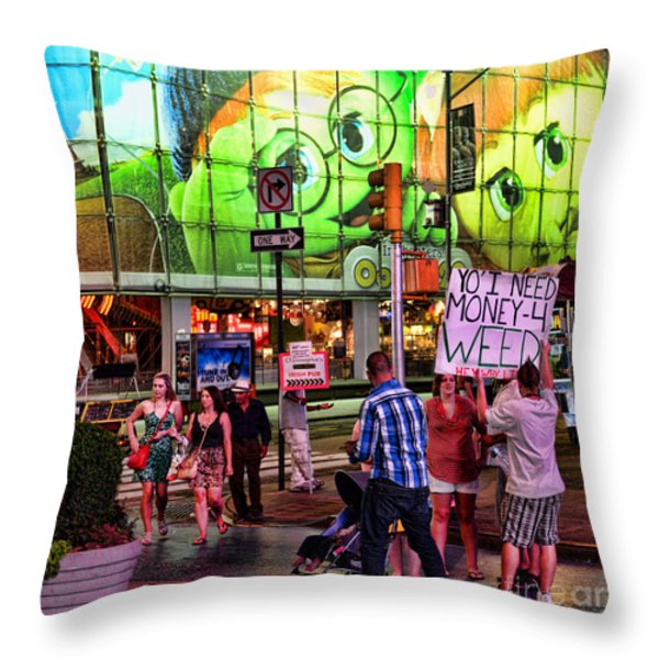 Need Money for Weed Throw Pillow by Paul Ward